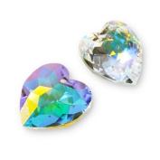 1. Crystal Heart Pendant #6215 18mm Crystal AB