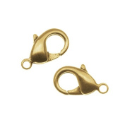 Nunn Design Antiqued Gold Plated Lobster Clasps 18.5mm