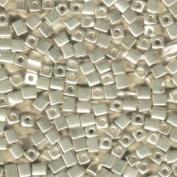 20 Grammes Metallic Silver Miyuki 4mm Square Cube Japanese Glass Seed Beads
