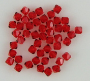 48 4mm. crystal bicone 5301 Lt Siam beads