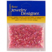 10/0 Seed Beads, Inside Colour Lustre, Red, 20 Gramme Pkg