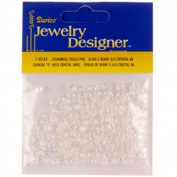 "6/0 Glass ""E"" Beads, Crystal AB, 20 Gramme Pkg"