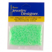 10/0 Ceylon Seed Beads, Lt Green, 20 Gramme Pkg