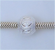2 SILVER STARDUST European Charm Beads for Troll Biagi Pandora