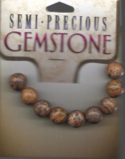 9 pc 10MM Leopard Skin Round Beads - Semi-Precious by Cousin - #2636411