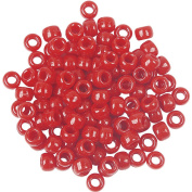 The Beadery 6 by 9mm Barrel Pony Bead, Red, 900-Pieces