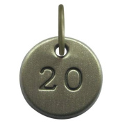 1.3cm Days to Remember Number 20 Embossed Collectible Charm