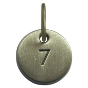 1.3cm Days to Remember Number 7 Embossed Collectible Charm