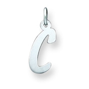 Sterling Silver Small Initial C Charm