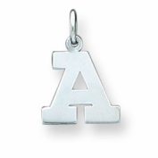 Sterling Silver Small Block Initial A Charm