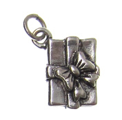 Charm Gallery 77328 Silver Plated Present Charm