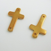 Vermeil-18k Gold Plated Over Sterling Silver Sideways Cross 16mm