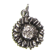 Charm Gallery 77276 Silver Plated Sun Flower Charm