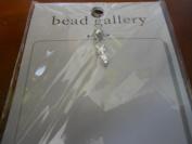 Bead Gallery Steel Size 2 Round CZ Drop Pendant (90614