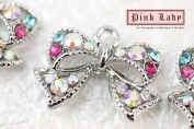 H443 Wholesale Cute Bow Crystal Charm Pendant