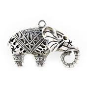 Antique Silver India Tone Elephant Pendants Scarf Accessories for Diy, Pt-404,3 Pcs Per Lot