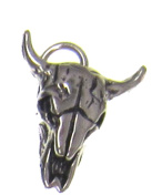 Charm Gallery 77207 Silver Plated Cattle Skull Charm