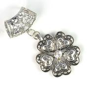 Antique Silver Six Petals Alloy Flower Pendant Charm for Diy Scarves,hot,pt-616