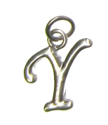 Charm Gallery 77168 Silver Plated Letter Y Charm