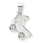 Sterling Silver Baby Buggy Charm