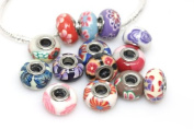 10 Assorted Flower Clay Beads Fits Pandora Troll Chamilia Biagi Bracelet