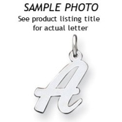 Sterling Silver Medium Script Initial E Charm