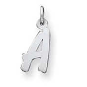 Sterling Silver Small Initial A Charm