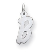 Sterling Silver Small Initial B Charm