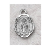 Pewter Miraculous Medal on 46cm Chain