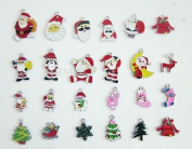 Christmas Santa Mixed Lot Charms - Lot of 15 - DIY Jewellery Crafting 8mm