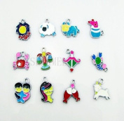 Cute Animals Mixed Lot Charms - Lot of 15 - DIY Jewellery Crafting 8mm
