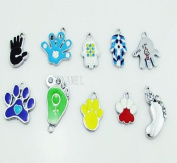 Footprint Handprint Mixed Lot Charms - Lot of 15 - DIY Jewellery Crafting 8mm