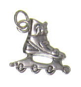 Charm Gallery 77262 Silver Plated Roller Blade Charm