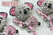 H398 Cute Pink Crystal Koala Bear Wild Animal Charm Pendant
