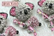 H398 Cute Pink Crystal Koala Bear Wild Animal Charm Pendant