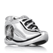 Silver Plated Pugster Running Shoe European Symbol Charm Bead Fits Pandora Bracelet
