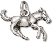 Sterling Silver Horse Charm Pony Charm with Split Ring - Item #9433