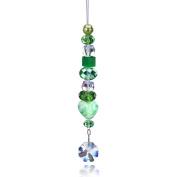 Connie Crystal Mixed Media Octagon Suncatcher Crystal, Green Theme