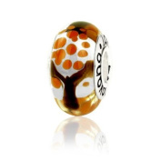 Murano Glass Fall Colours Tree Charm on Sterling Silver , Fits Pandora, Jovana Bracelet