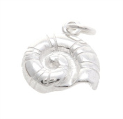 Sterling Silver One Sided Polished Seashell Charm