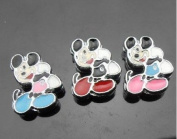 15 PC Mickey Mouse Mixed Lot of Slide Charms - DIY Jewellery Crafting 8mm Enamel Pendants