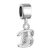 Pugster Letter B Dangle Bead Fits Pandora Chamilia Charm Bracelet