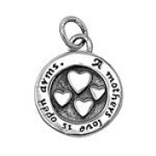 14MM .925 STERLING SILVER HEART PENDANT
