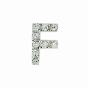 .925 Sterling Silver Initial Letter F Diamond Sense Cubic Zirconia Pave Pendant 41cm Chain
