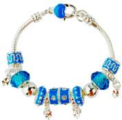 Fashion Exquisite Love European Charm Bracelet Cz Silver Murano Glass Beads