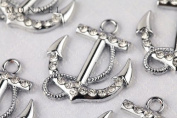 M180 Cute Aloy Boat Silver Anchor Charm Pendant