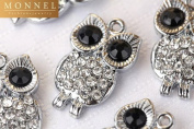 M82 Big Black Eye Crystal OWL Charm Pendant Wholesale