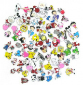 15 PC Mixed Lot of Charms - Mario, Hello Kitty, Betty Boop Minions Monsters Inc Owls DIY Jewellery Crafting 8mm Enamel Pendants