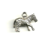 Gift Boxed Sterling Silver Zebra Charm African Animal Jewellery
