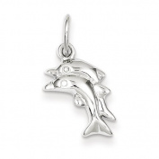 Sterling Silver Polished Dolphin Charm